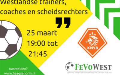 Spelregelavond met betaald voetbal scheidsrechter Martin van den Kerkhof