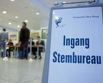S.V. Loosduinen stembureau voor de verkiezingen op woensdag 20 maart a.s.