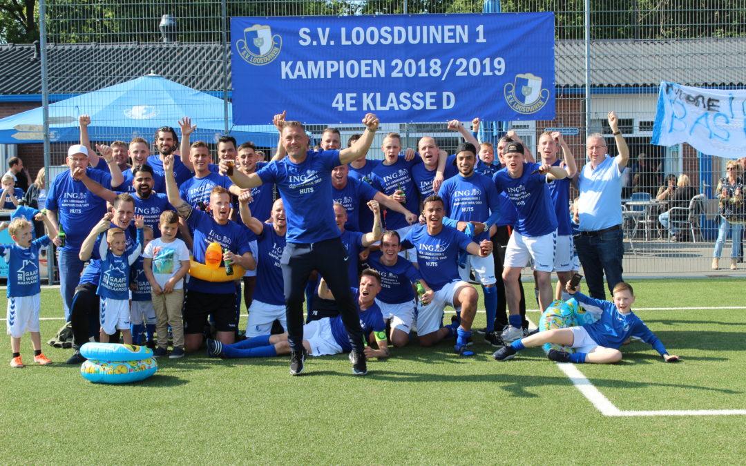 S.V. Loosduinen kampioen 4e klasse D (verslag en foto's)