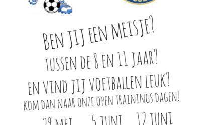 Open trainingsdagen voor meisjes bij S.V. Loosduinen