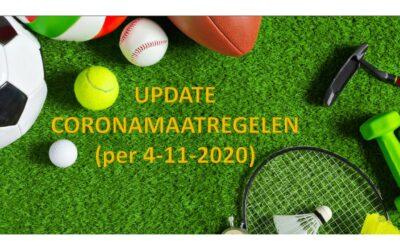 Update Coronamaatregelen per 4 november 22.00 uur