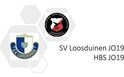 SV Loosduinen JO19 – HBS JO19 3-1 (3-0)