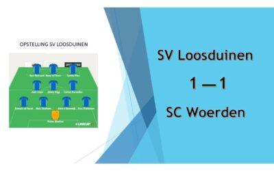 SV Loosduinen – SC Woerden  (beker)     1-1