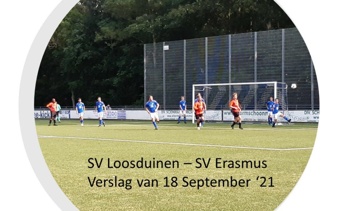 SV Erasmus geeft S.V. Loosduinen stof tot nadenken