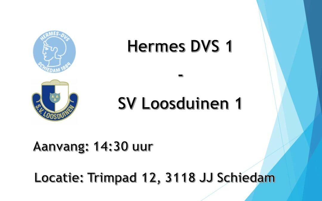 Hermes DVS 1 – SV Loosduinen 1, zaterdag 11 september om 14.30 uur