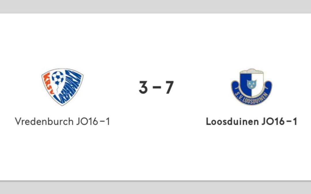 SV Loosduinen JO16-1 wint lastige uitwedstrijd bij Vredenburch JO16-1