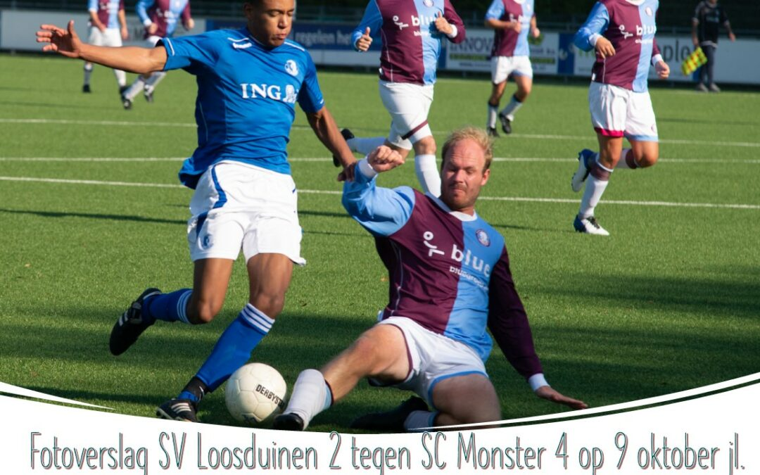 Fotoverslag van ons tweede elftal tegen Monster op 9 oktober jl.
